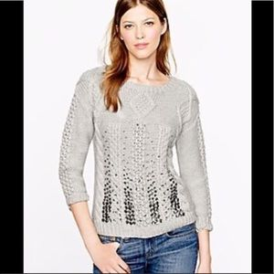 J Crew Collection handknit cable sweater XXS